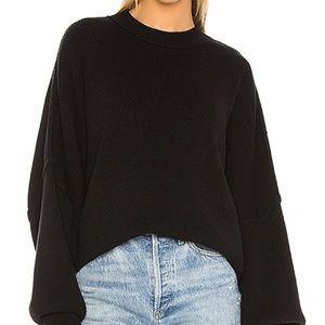 Free people easy street tunic sweater black
